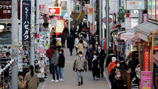 Торговая улица в Токио