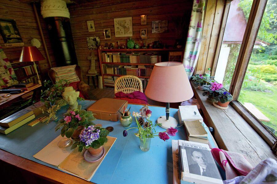 Кабинет Паустовского в доме-музее писателя в Тарусе