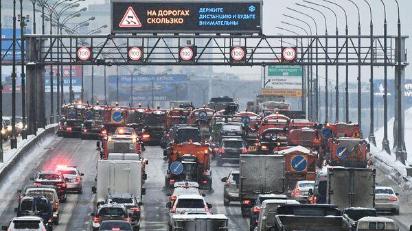 Пробки в Москве вечером во вторник могут достичь девяти баллов