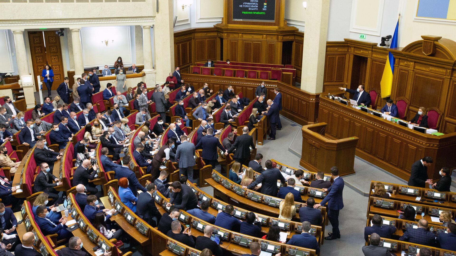 Заседание Верховной рады Украины - РИА Новости, 1920, 03.02.2021