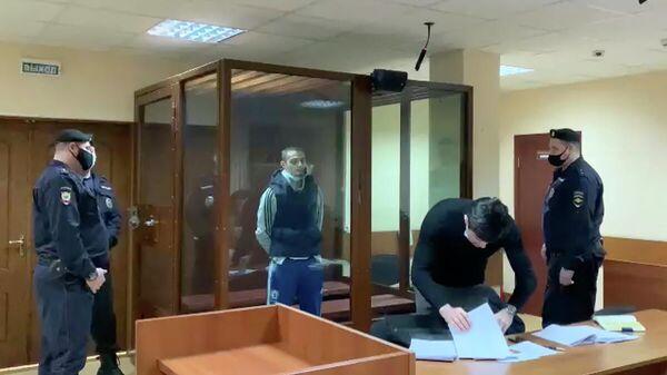 Сайд-Мухамад Джумаев в суде. Кадр видео