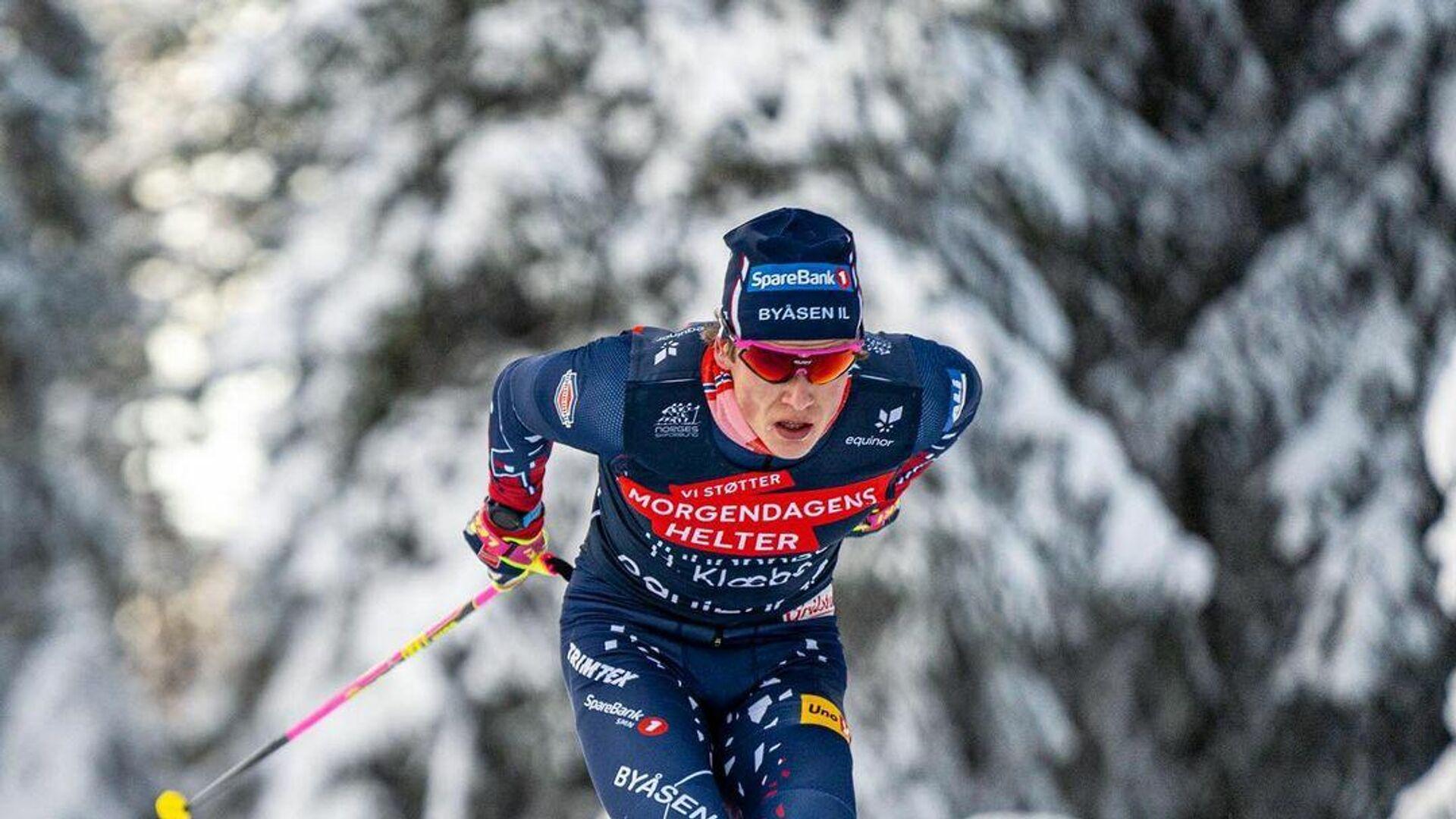 Трехкратный олимпийский чемпион по лыжным гонкам Йоханнес Клебо - РИА Новости, 1920, 25.02.2021