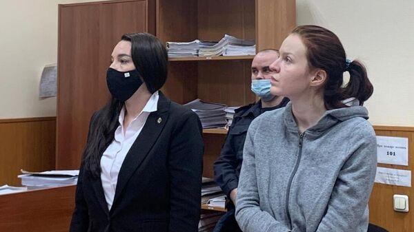 Пресс-секретарь Алексея Навального Кира Ярмыш, подозреваемая по делу о нарушении санитарно-эпидемиологических норм на несогласованной акции протеста 23 января в Москве