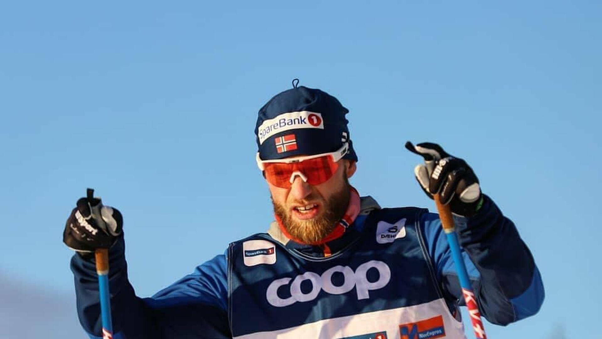 Двукратный олимпийский чемпион 2018 года лыжник Мартин Йонсруд Сундбю - РИА Новости, 1920, 03.02.2021