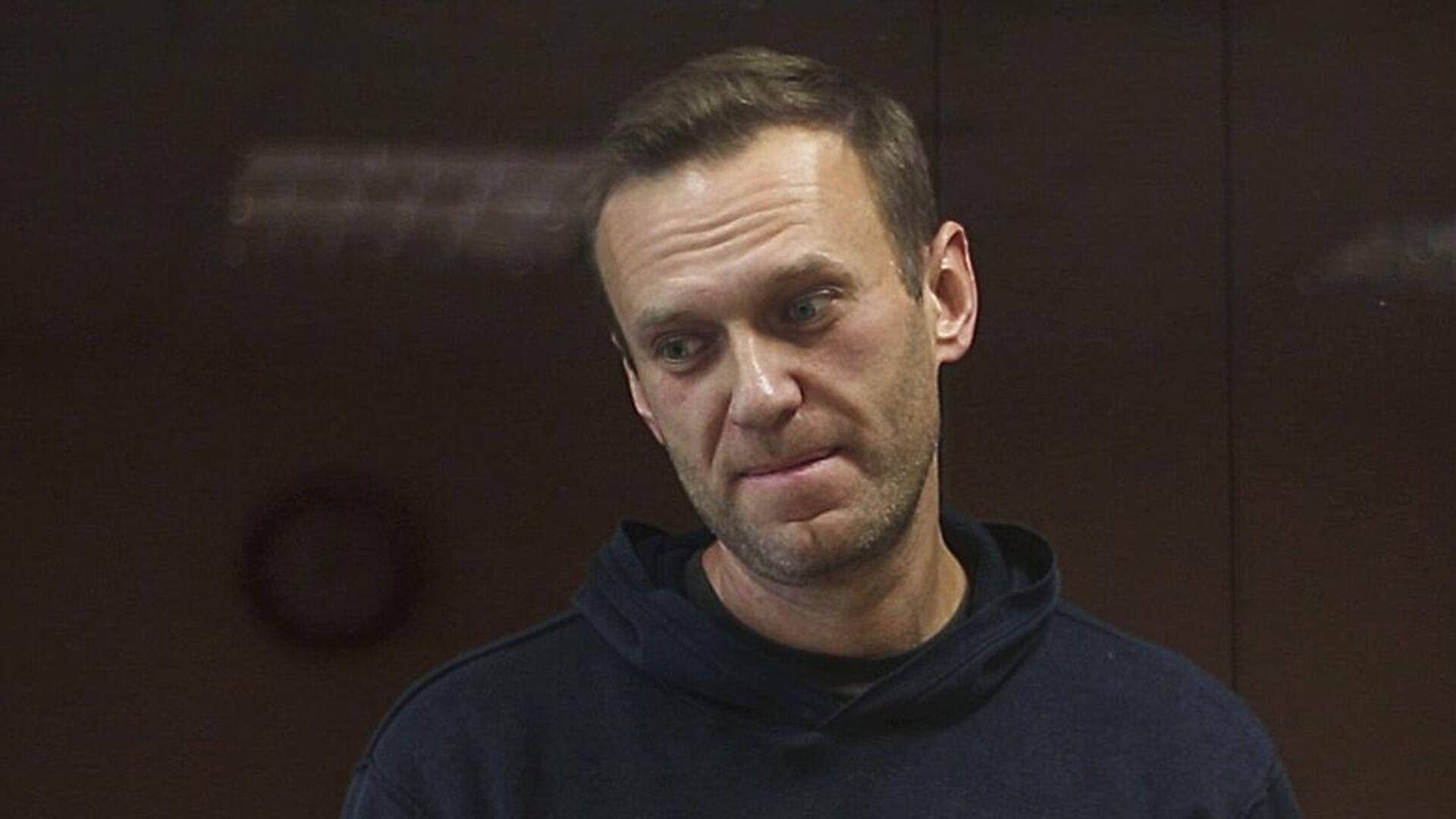 Алексей Навальный в зале Бабушкинского районного суда - РИА Новости, 1920, 10.02.2021
