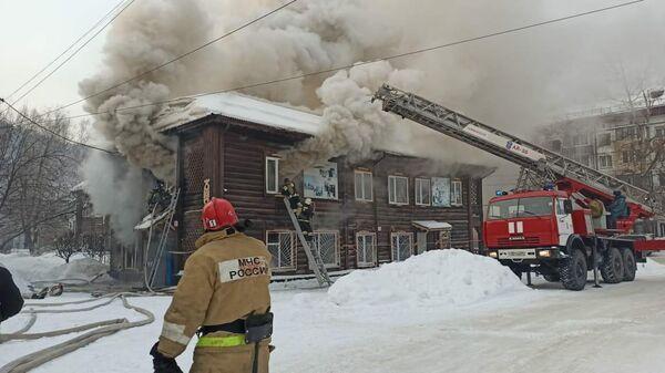 Пожар в Горно-Алтайске