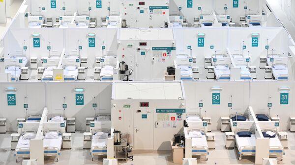 Временный госпиталь для пациентов с COVID-19 в Крылатском