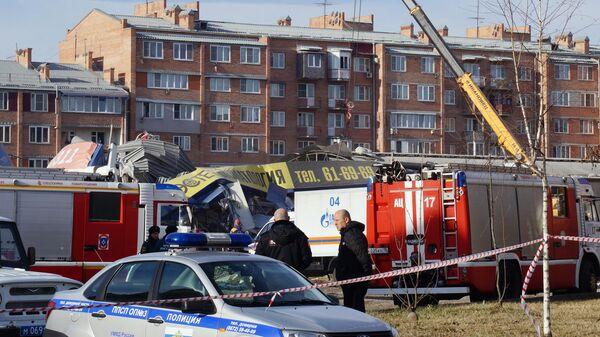 Ситуация на месте взрыва в супермаркете на улице Гагкаева во Владикавказе