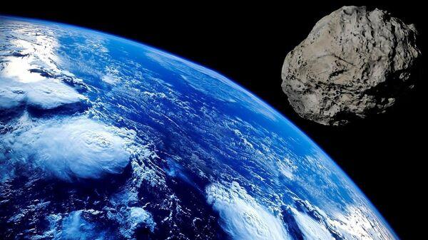 Метеорит приближается к планете Земля