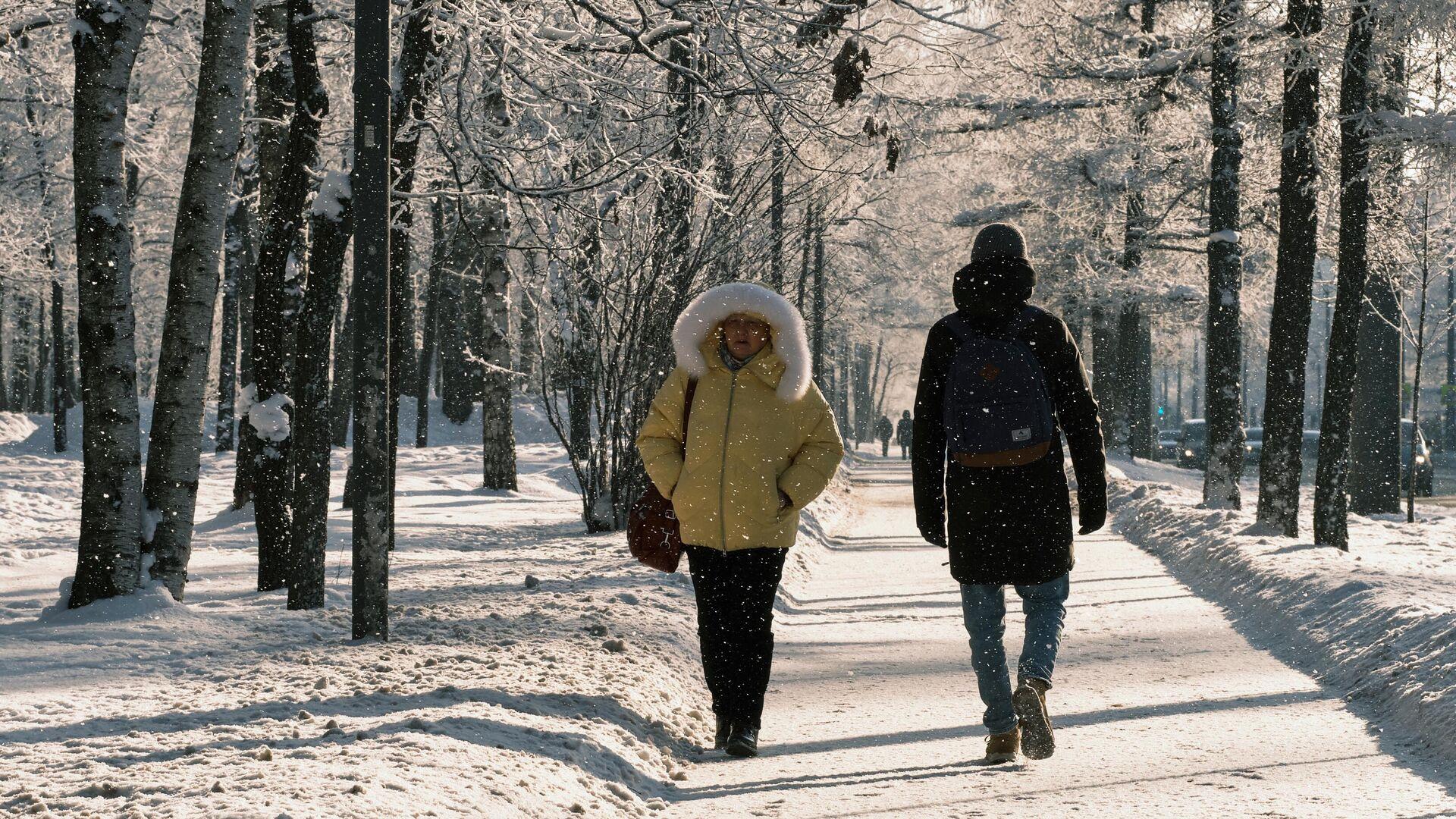 Зима в Санкт-Петербурге - РИА Новости, 1920, 09.03.2021