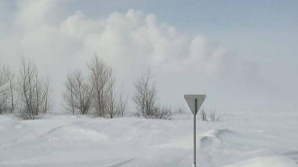 Дым от взрыва магистрального газопровода в Илекском районе Оренбургской области