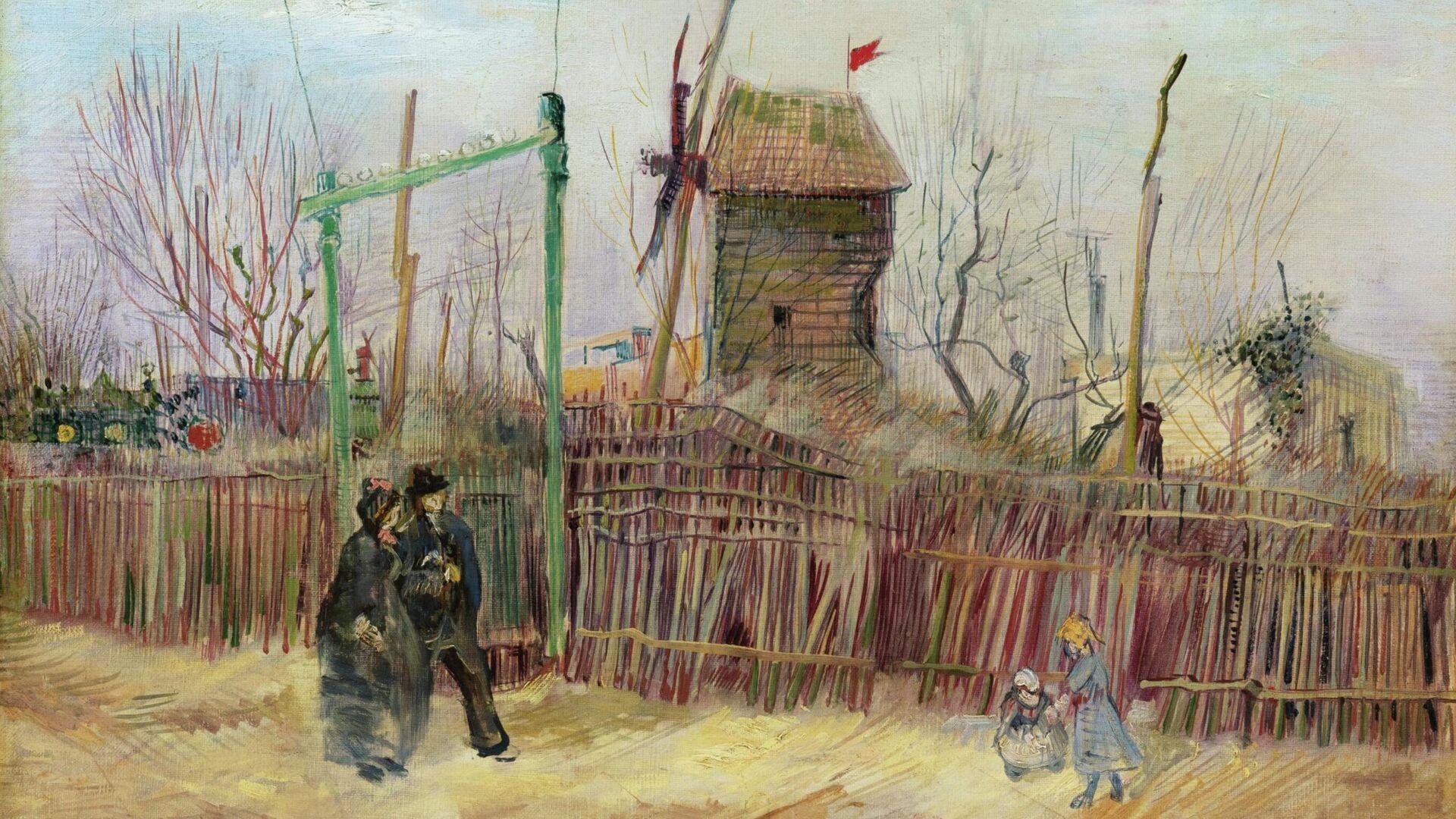 Картина Уличная сцена в Монмартре художника Ван Гога - РИА Новости, 1920, 25.02.2021