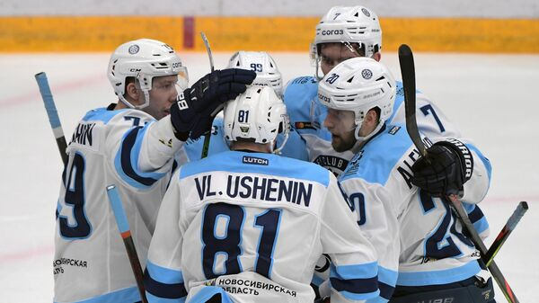 Хоккеисты Сибири в матче КХЛ