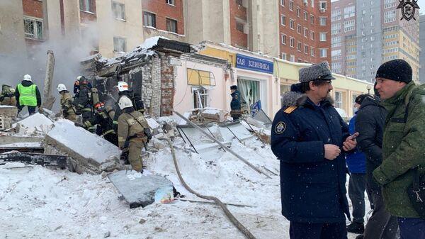 Место взрыва в жилом доме на Мещерском бульваре в Нижнем Новгороде