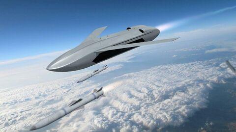 Прототип беспилотного летательного аппарата LongShot в представлении художника