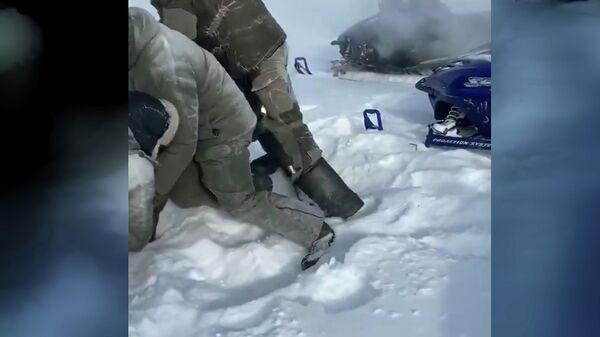 Кадр из видео процесса браконьерства в Тверской области
