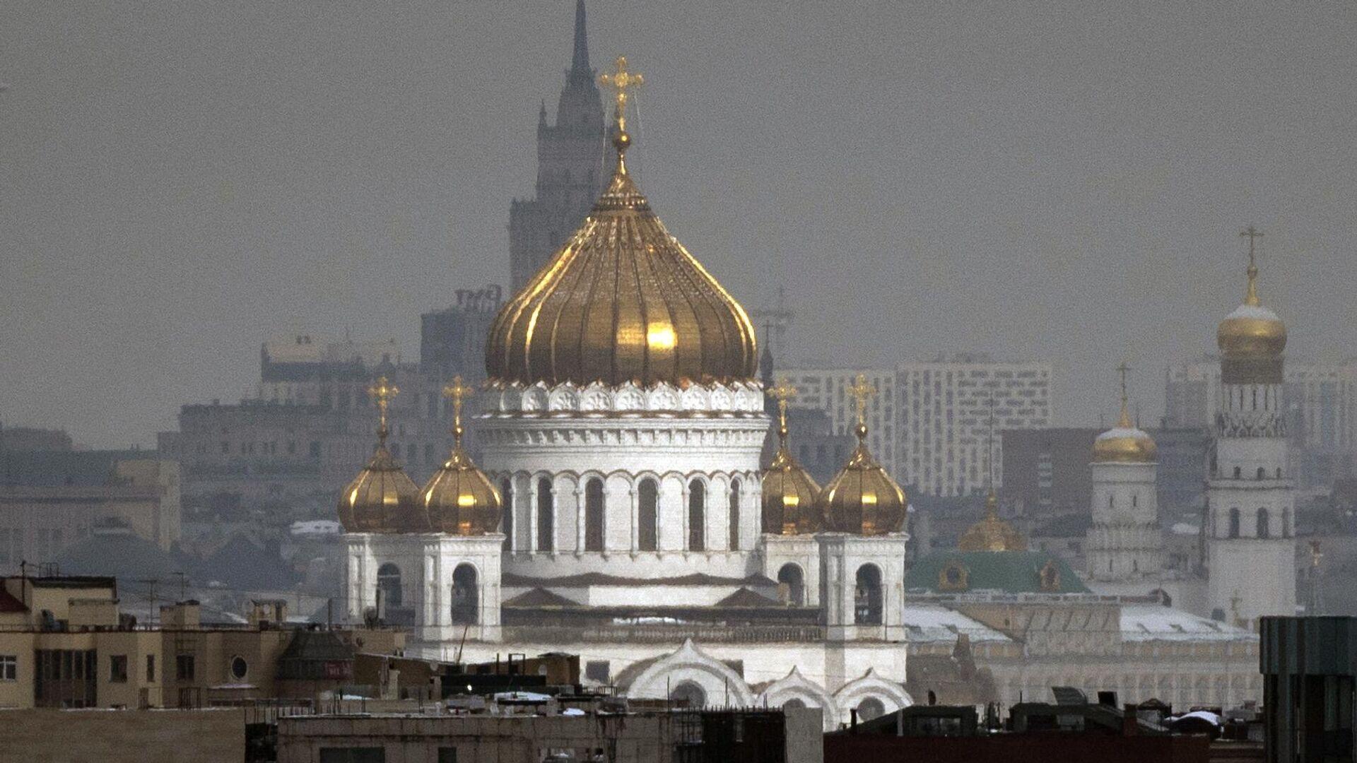Вид на Храм Христа Спасителя - РИА Новости, 1920, 08.06.2021