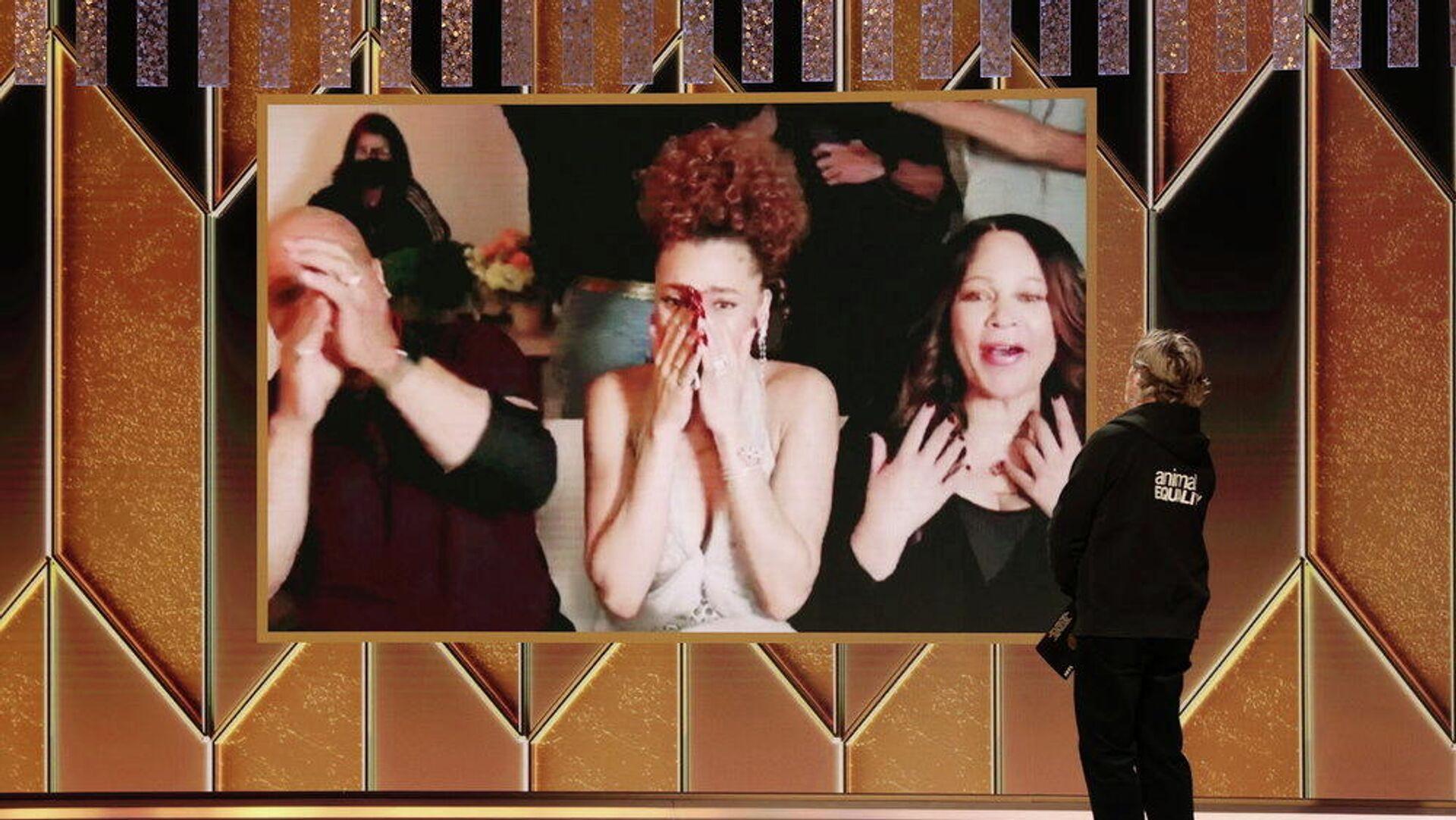 Андра Дэй на церемонии вручения премии Золотой глобус - РИА Новости, 1920, 01.03.2021