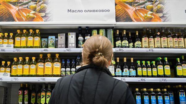 Продажа оливкового масла в сети продуктовых гипермаркетов Ашан (Auchan) в Москве