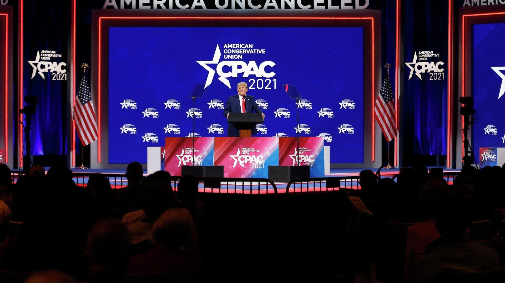 Бывший президент США Дональд Трамп на конференции консервативных политических партий в Орландо - РИА Новости, 1920, 02.03.2021