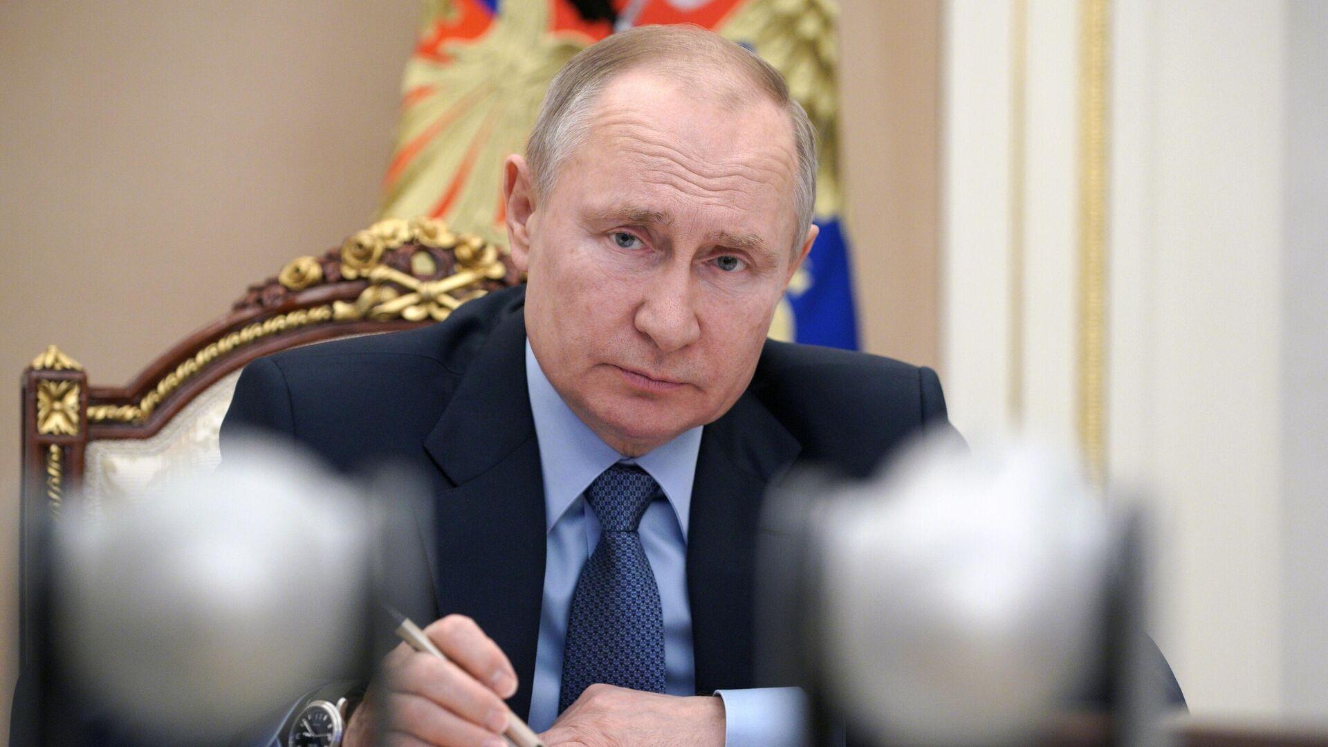 Президент РФ Владимир Путин проводит в режиме видеоконференции совещание по вопросам развития угольной отрасли - РИА Новости, 1920, 02.03.2021