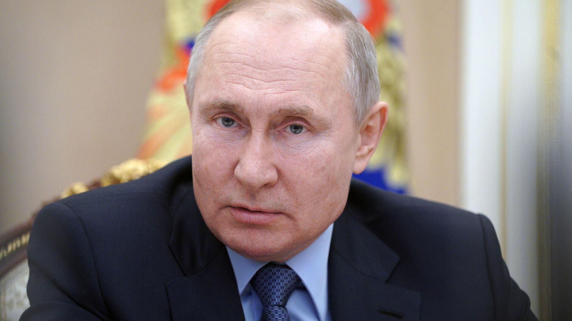 Президент РФ Владимир Путин проводит в режиме видеоконференции совещание по вопросам развития угольной отрасли - РИА Новости, 1920, 03.03.2021