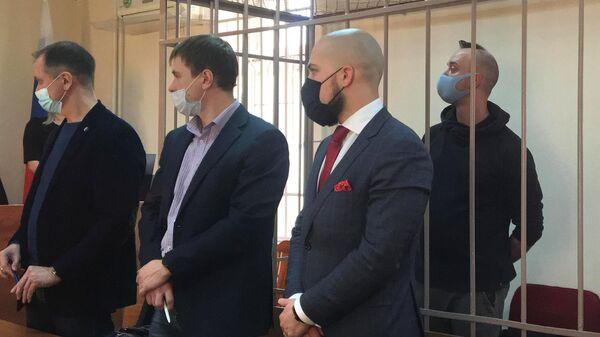 Журналист Иван Сафронов, обвиняемый в государственной измене, на заседании Лефортовского суда Москвы