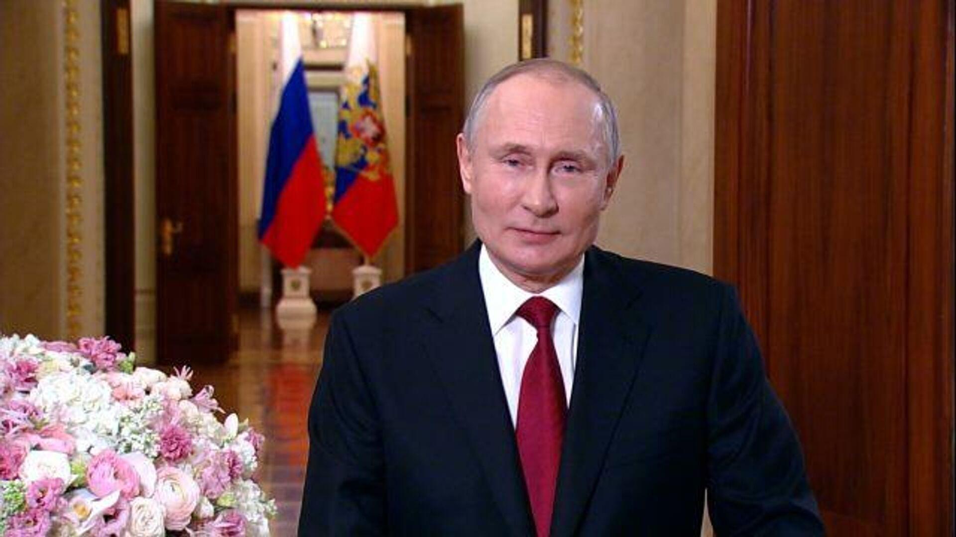 Владимир Путин поздравил женщин с 8 Марта - РИА Новости, 1920, 08.03.2021