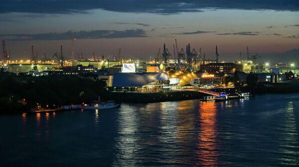 Порт в Гамбурге, Германия