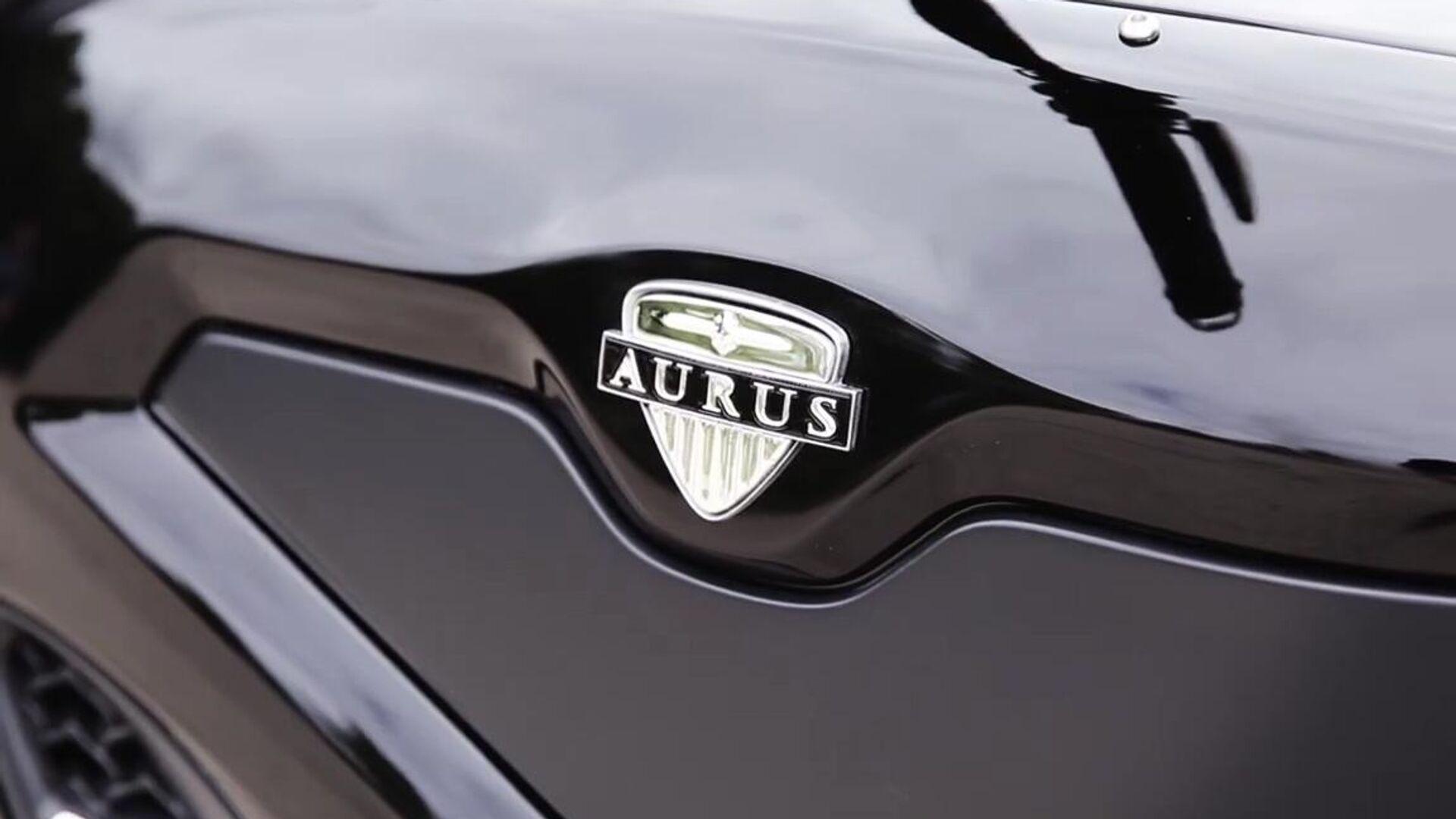 Логотип на прототипе электрического мотоцикла специального назначения Aurus - РИА Новости, 1920, 03.06.2021