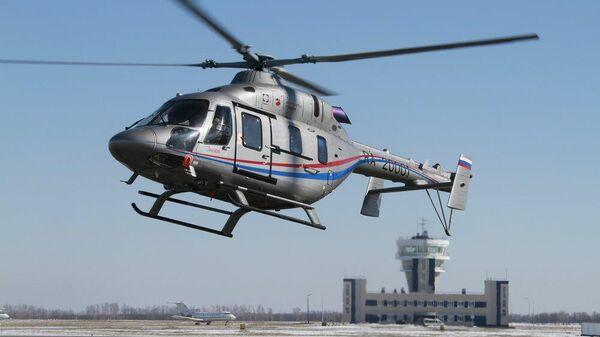 Вертолёт санавиации в Липецкой области