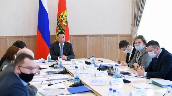 Губернатор Тверской области Игорь Руденя во время заседания президиума правительства Тверской области