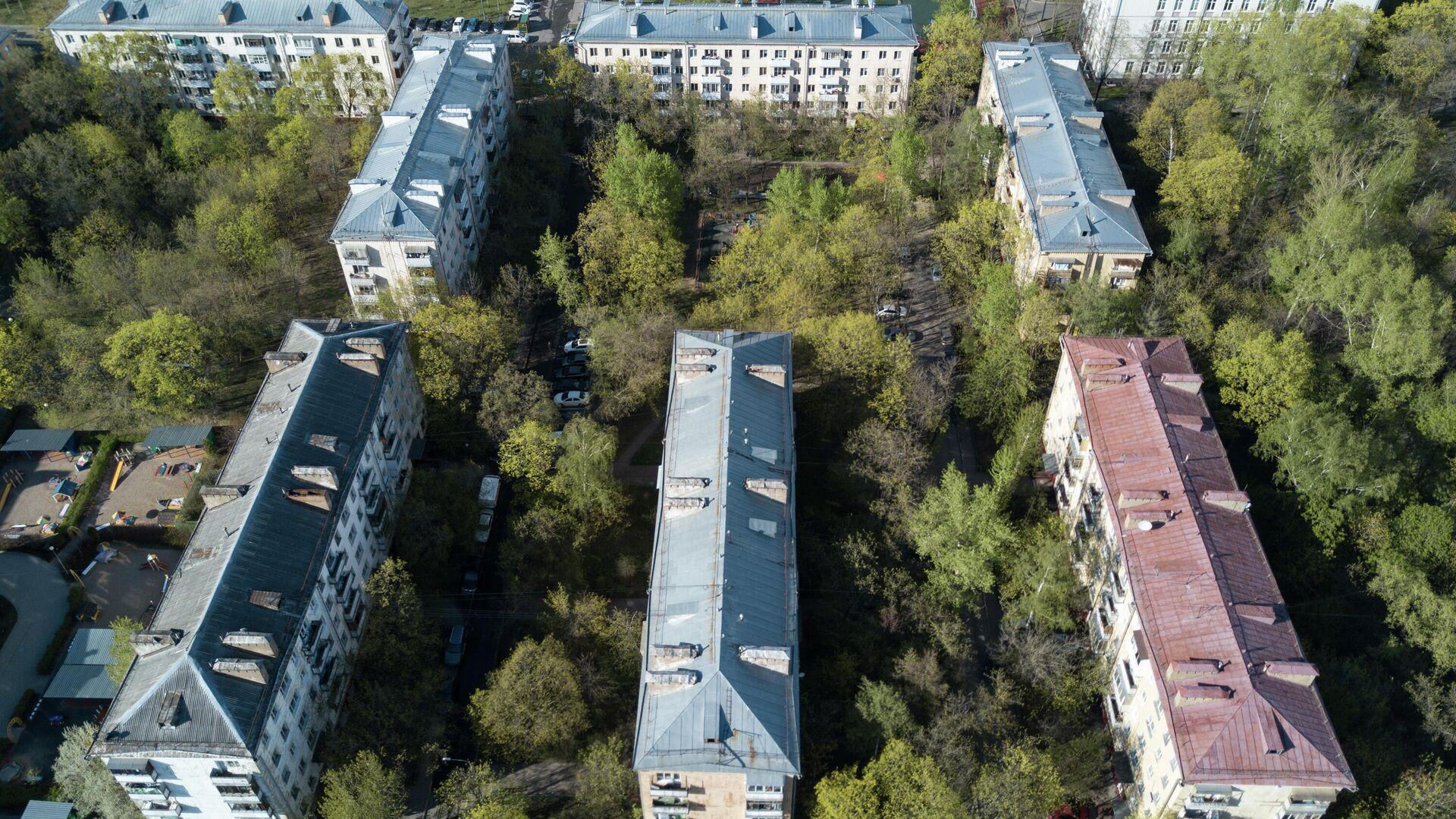 Пятиэтажные жилые дома в Москве, включенные в программу реновации. - РИА Новости, 1920, 23.03.2021