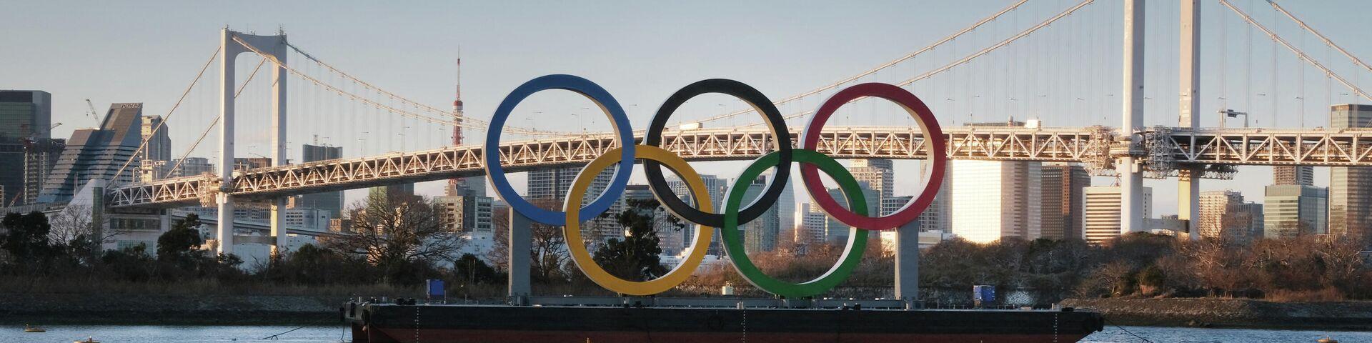 Олимпийские кольца в Токио - РИА Новости, 1920, 15.07.2021