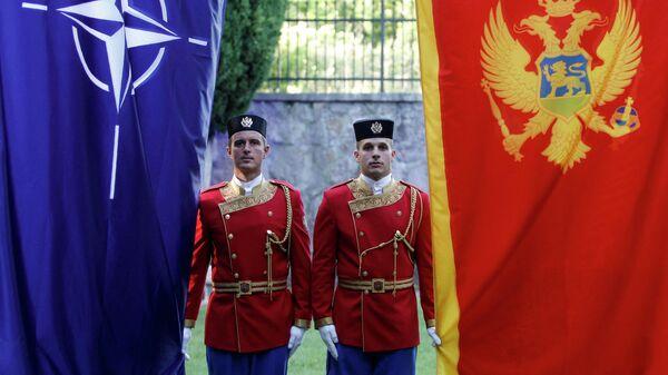 Почетный караул на церемонии вступления Черногории в НАТО в Подгорице