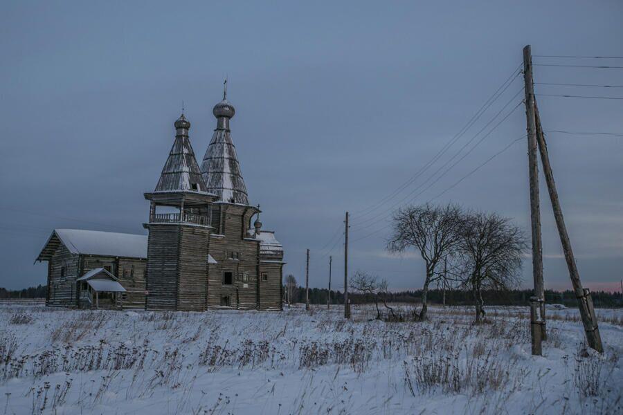Архангельская область, Каргопольский район, д. Саунино, церковь Иоанна Златоуста, 1665 г
