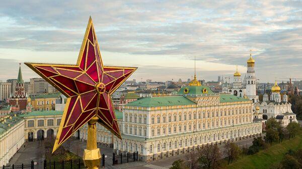 Звезда на Водовзводной башне Московского Кремля