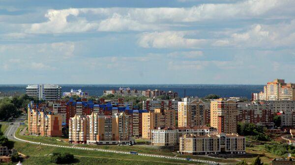 Вид новых кварталов города Чебоксары