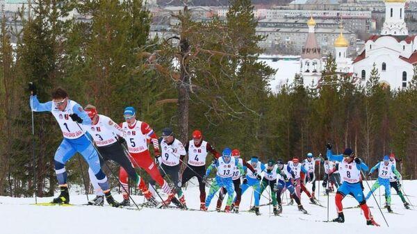 Лыжники на чемпионате России