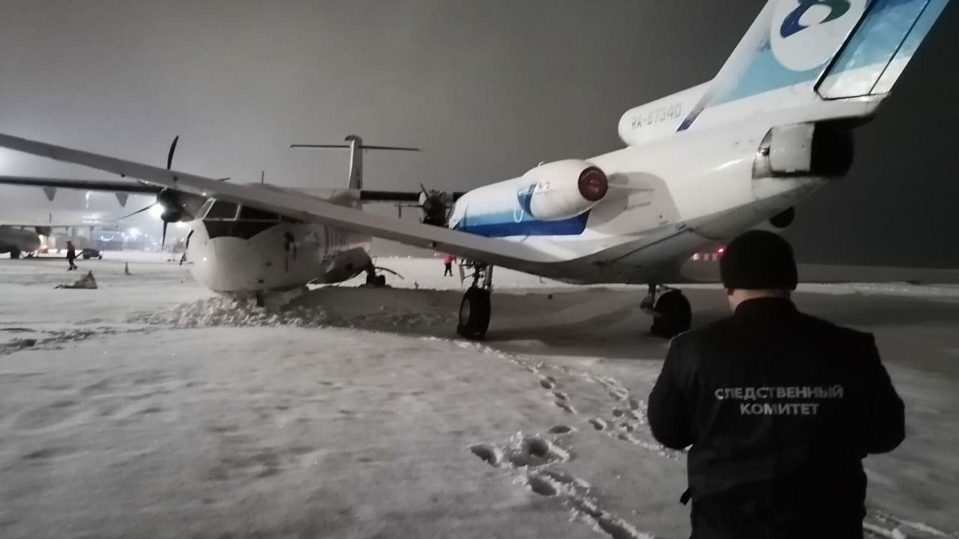 В аэропорту Сургута самолет ATR-72 сам укатился и столкнулся с Як-40 - РИА Новости, 1920, 02.04.2021