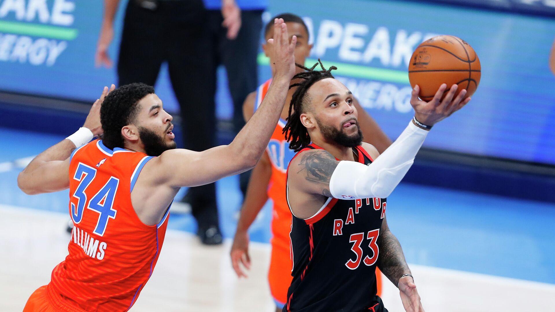 Игровой момент матча НБА Торонто Рэпторс - Голден Стэйт Уорриорз - РИА Новости, 1920, 03.04.2021