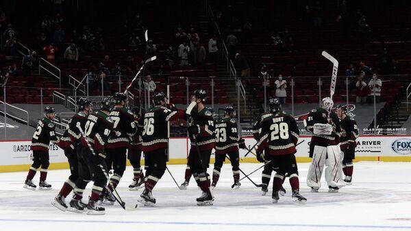 Хоккеисты клуба НХЛ Аризона Койотис