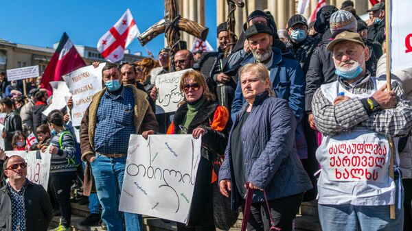 Протесты против строительства ГЭС Намахвани в Грузии