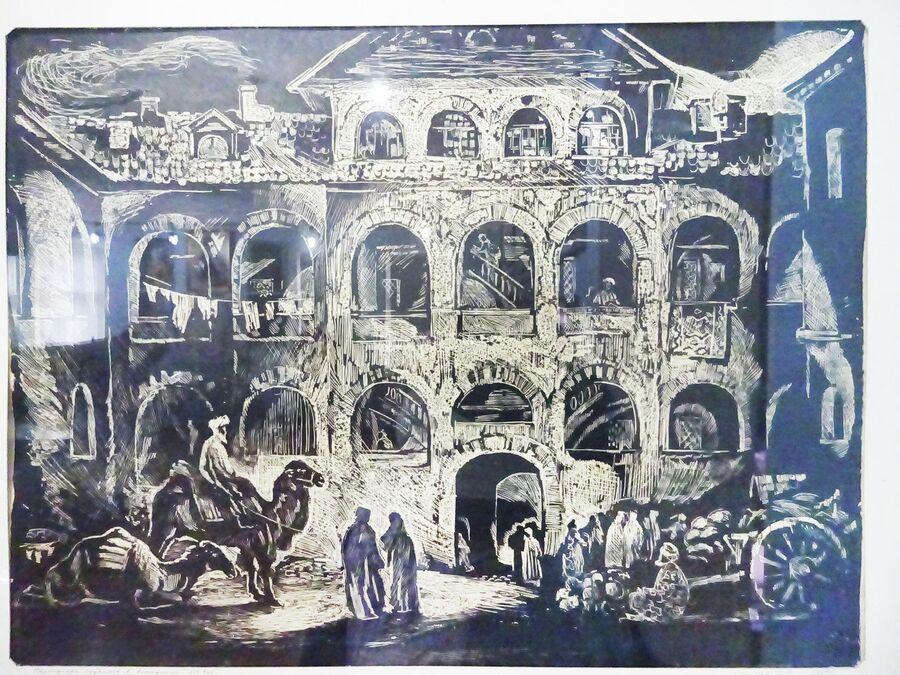 Персидское подворье. Гравюра 19 века из Краеведческого музея