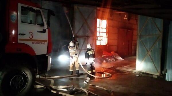 Пожар на заводе по производству дроби в Волгограде на площади 1850 квадратных метров