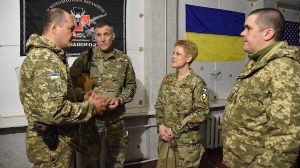 Военный атташе США Бриттани Стюарт в Донбассе