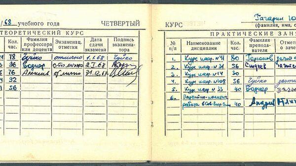 Зачетная книжка №1 слушателя Краснознаменной ордена Ленина военно-воздушной инженерной академии