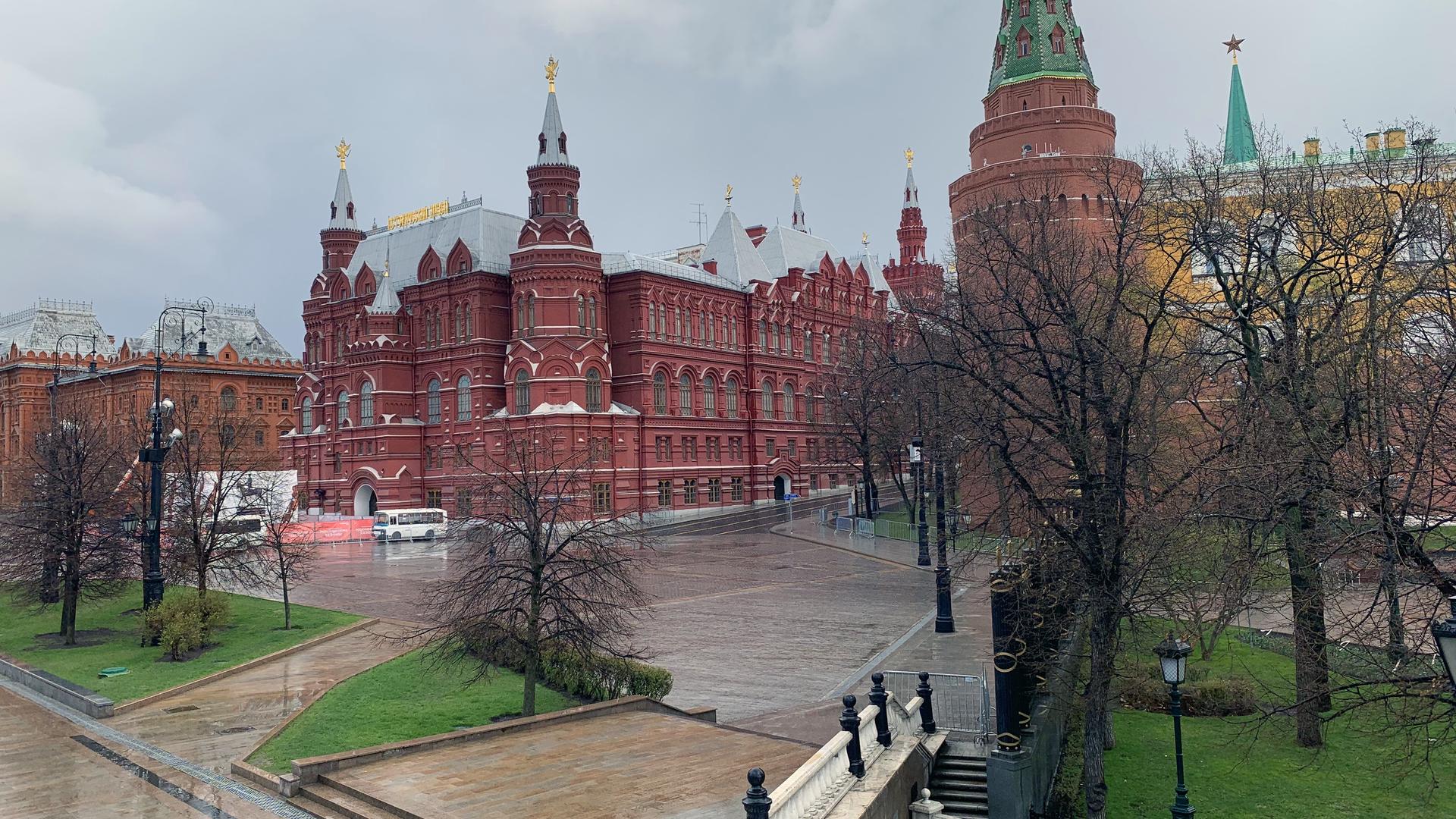 Манежная площадь в Москве 17 апреля 2020 года - РИА Новости, 1920, 04.05.2021