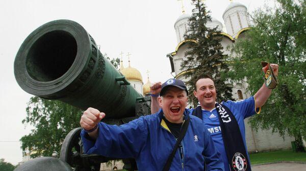 Поклонники Челси знакомятся с достопримечательностями на территории Кремля.