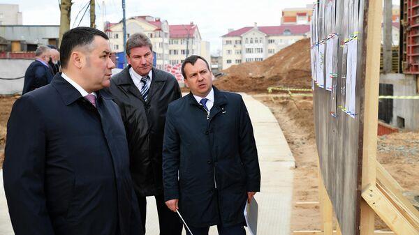 Губернатор Тверской области Игорь Руденя на месте строительства детского сада